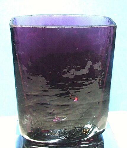 Vintage MCM Mid Century Mod BLENKO Amethyst Textured Hand Blown Glass Vase