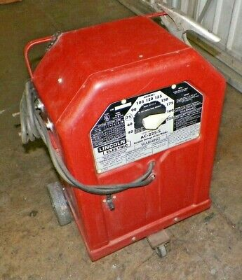 Lincoln Electric Ac-225-s Arc Welder On Lincoln Dolly.