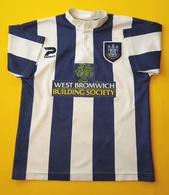 4/5 West Bromwich Albion kids jersey 1996 1997 home shirt Patrick soccer ig93 image