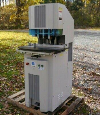 Rare Baum D5a -m-3 Hydraulic Three Hole Drill Press
