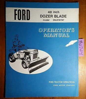 New Holland 48 09jc9797 Dozer Blade Owner Operator Manual Se3349-a 1734.6 173