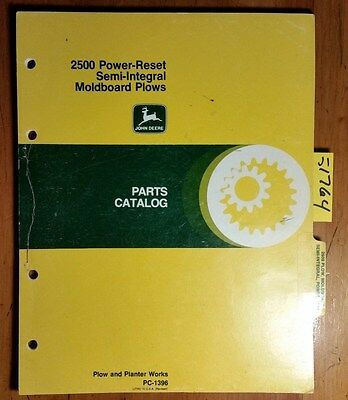 John Deere 2500 Power-reset Semi-integral Moldboard Plow Parts Catalog Manual 80