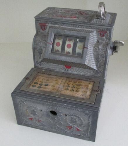 Vtg 1920s Mills Novelty Puritan Bell Trade Stimulator 5 Cent Machine Works Neat