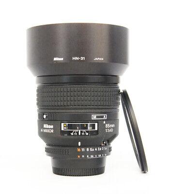 # Nikon AF NIKKOR 85mm f/1.4 D Auto Focus Lens S/N 427859