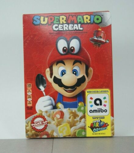 Super Mario Odyssey Cereal w/ AMIIBO FIRST RUN *NEVER OPENED*