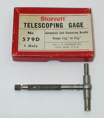 Starrett Telescoping Gage No. 579-d In Box