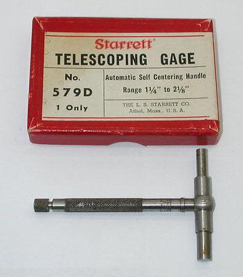Starrett Telescoping Gage No. 579-d In Box