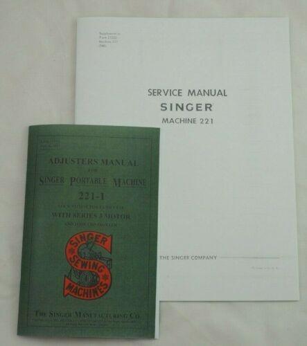 Singer Featherweight 221 Sewing Machine Dealer Adjusters & Repair Service Manual