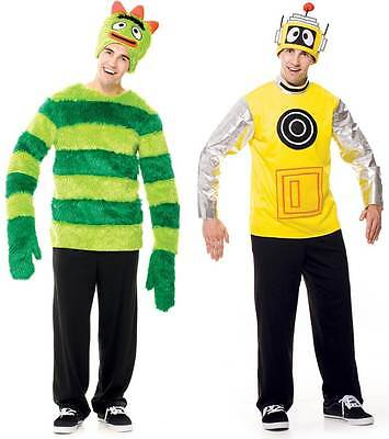 Adult Kids Nick Jr. Music TV Show Yo Gabba Gabba! Brobee or Plex Robot Costume](Brobee Costume)
