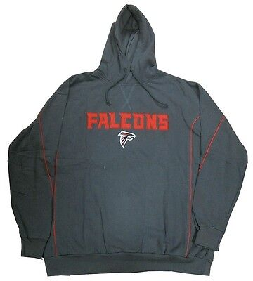 Atlanta Falcons NFL Team Apparel Charcoal Pullover Hoodie Big & Tall -