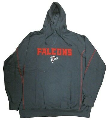 Atlanta Falcons NFL Team Apparel Charcoal Pullover Hoodie Big & Tall -