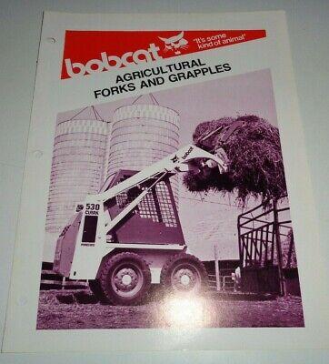 Bobcat Skid Steer Loader Forks Grapples Sales Brochure 479 Clark Melroe