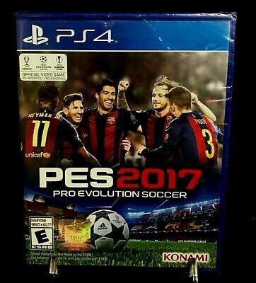 PS4 PES 2017 Pro Evolution Soccer Official Video Game New/Sealed