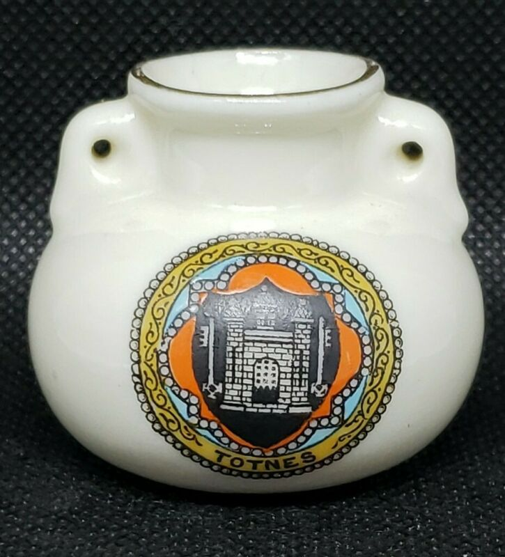 W.H. GOSS Model of Roman Vase Crested Totnes China Mini Miniature