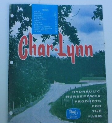 Char-lynn Hydraulic Horsepower Products For The Farm Tractor Brochure Catalog