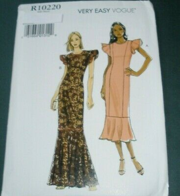 Vogue 9372 Pattern Misses Princess Seam Ruffle Bottom Dress /Gown 6-14 or 14-22 (Vogue Vogue)