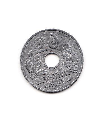 20 Centimes Frankreich 1943    (1009)