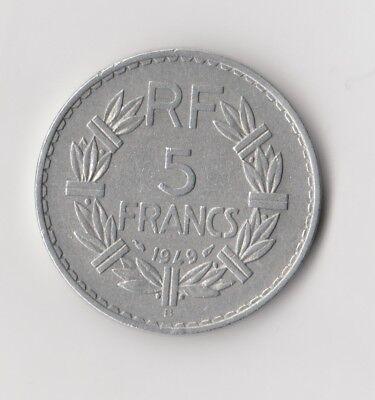 """5 Francs  Frankreich   1949   """"B""""  (1680)"""