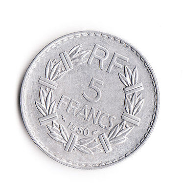5 Franc  Frankreich 1950    Al  (990)
