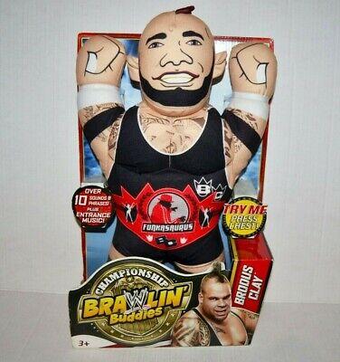 Brodus Clay Funkasaurus WWE WWF Plush Brawlin Buddies Wrestling Toy Doll Figure