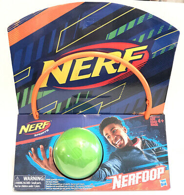 Nerf Sports Nerfoop Orange/Green Ball - Brand New with Worn Cardboard as-is