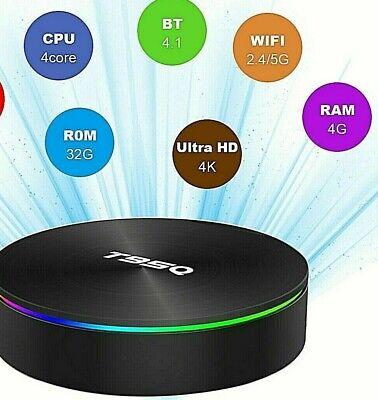 2020 Android 9.0 T95Q 4G+32G S905X2 4K HD Smart TV Box Quad Core WiFi Bluetooth