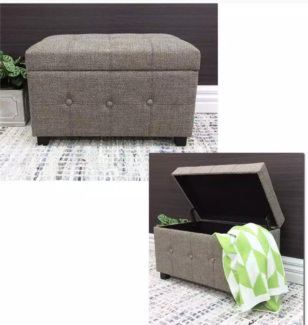 OSLO UPHOLSTERED STOOL WITH STORAGE Home Decor