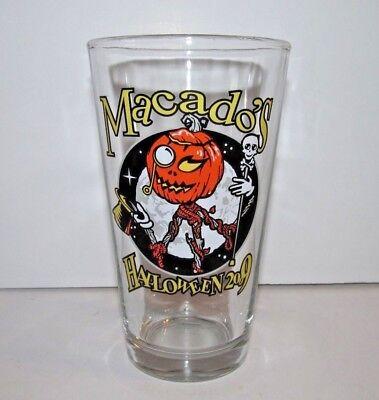 Macado's Halloween 2009 Pumpkin Head Pint Beer - Halloween Beer Glasses