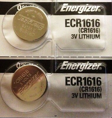 Energizer ECR1616 CR 1616 (2 piece) Lithium 3V Battery New Authorized Seller