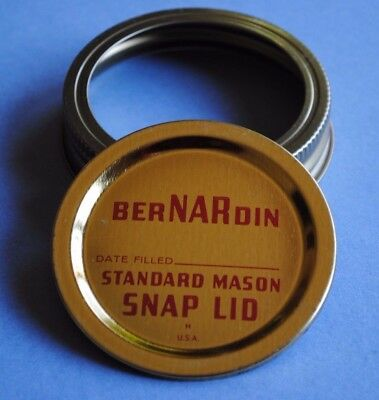 GOLD BERNARDIN STANDARD MASON SNAP LID w/ BAND Fits REGULAR~MOUTH Canning Jar - Gold Mason Jars