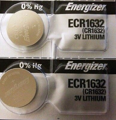 Energizer ECR1632 CR 1632 (2 piece) Lithium 3V Battery New Authorized Seller