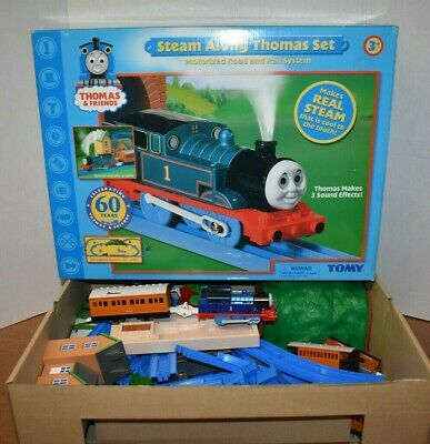 RARE Steam Along Thomas Train Set Tomy 2005 Real Steam&Sounds W/Instructions