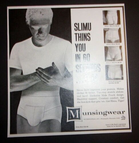 1966 Slimu Brief Munsingwear Advertisement