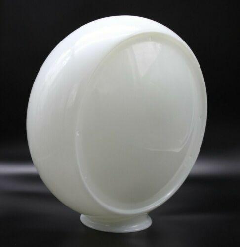 """13.5"""" Milk Glass Gas Pump Globe Body - Wide Body  5 3/4"""" Wide"""