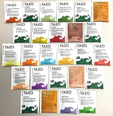 PowerTea Medley Gift Box Tazo Tea Variety 50 Bags with Power for Apple Honey... -