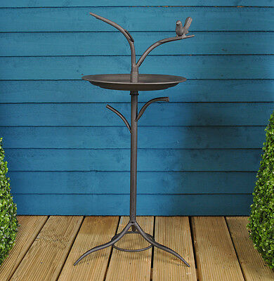 Gardman Metal Tree Pedestal Free Standing Wild Bird Bath Garden Feeder