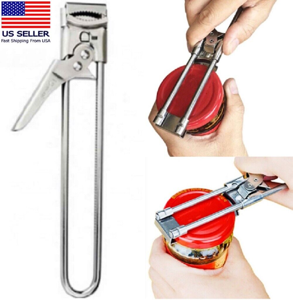 Adjustable Multifunctional Stainless Steel Can Opener Jar Lid Gripper Kitchen Can Openers (Manual)
