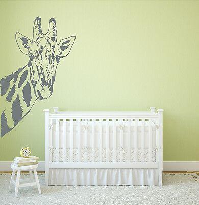 Giraffe Wall Decals Safari African Animals Vinyl Sticker Nome Decor Nursery L13 (Giraffe Nursery Decor)