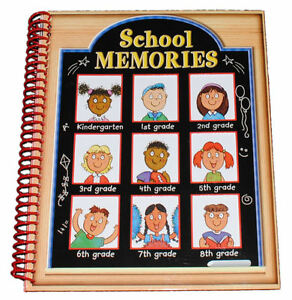School Memories Picture Keepsake Scrapbook Journal