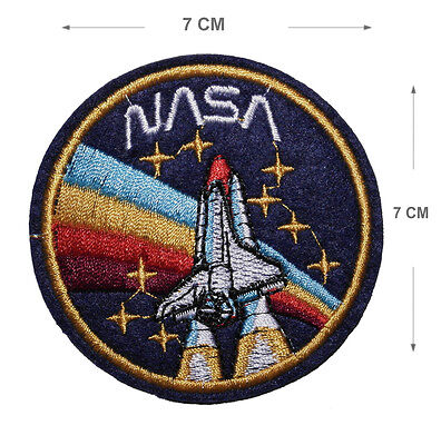 NASA Embroidered Iron On / Sew On Patches Motif Applique Space Craft Embroidery - Space Crafts