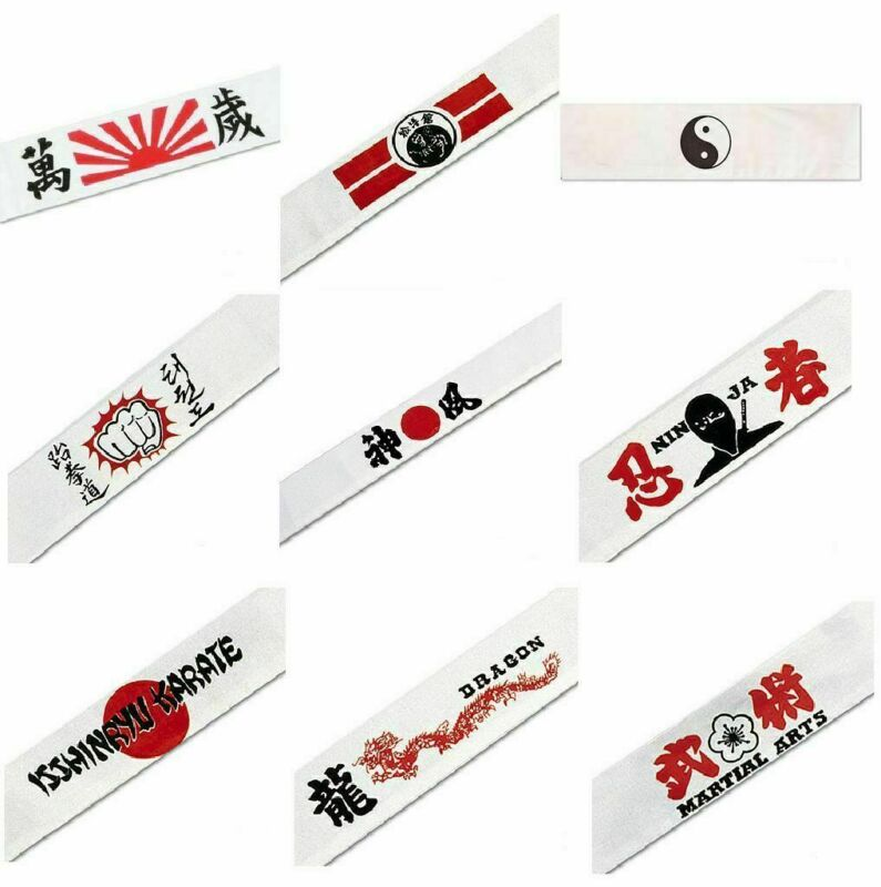30 Martial Arts Headbands Karate Taekwondo Rising Sun Kamikaze Costume Lot Bulk