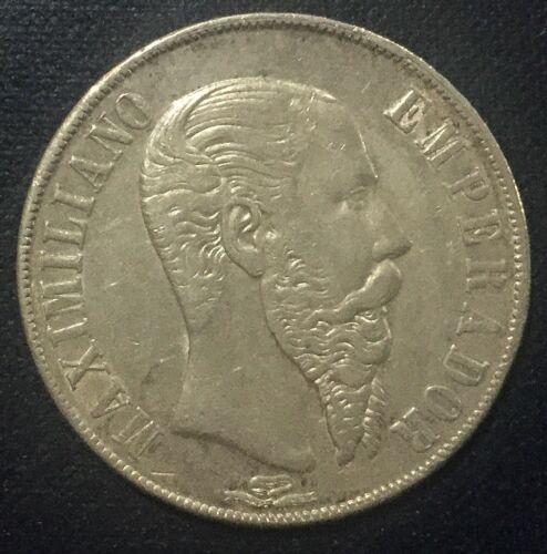 1867 Mo Mexico  Peso Maximilian Emperor Nice  Coin KM#388.1 Crown Collector Coin