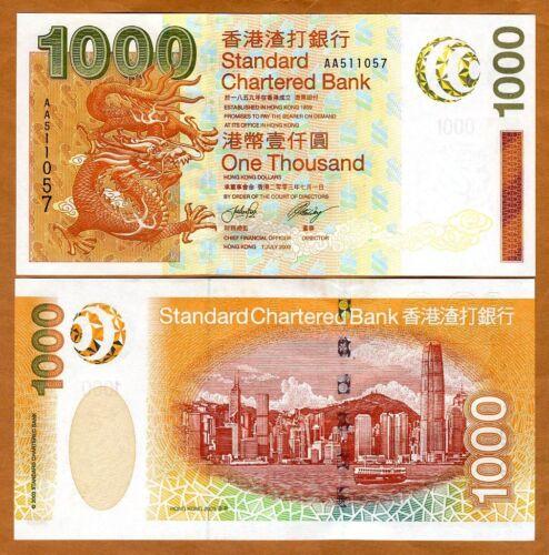 Hong Kong, $1000, 2003, SCB, P-295, UNC > Dragon