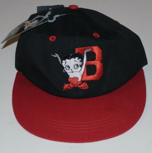 1994 BETTY BOOP SNAPBACK CAP/HAT! NEW WITH TAGS! EMBROIDERED LOGOS FRONT & BACK!