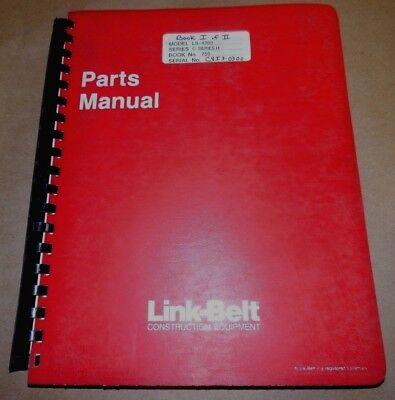 Link Belt Excavator Parts - 2 Part Manual Book 756 Ls 4300 C2