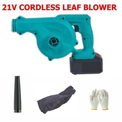 21V Cordless Garden Yard Leaf Blower Vacuum Lightweight Dust Power Tool