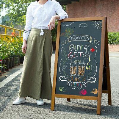 Chalk Board Menu (Cafe Club Double Sided A-Frame CHALKBOARD Menu Board Sidewalk Sign W/ Free)