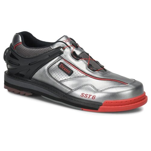 Dexter SST 6 BOA Grey/Black/Red RIGHT HANDED Mens WIDE WIDTH Bowling Shoes