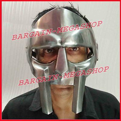 (New Gladiator Face Mask Helm Hand Forged Sca Larp Helmet Roman Armor Mf Doom ds1)