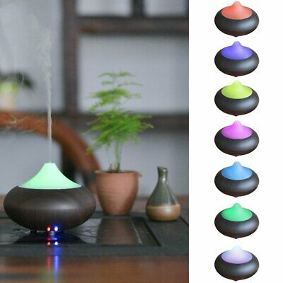 Diffuser Mist Humidifier 7 LED Color Ultrasonic Essential Oil For Yoga Spa USA